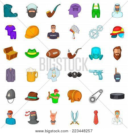 Proficient icons set. Cartoon set of 36 proficient vector icons for web isolated on white background