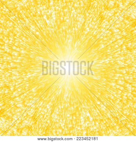 abstract golden background of luminescent lines