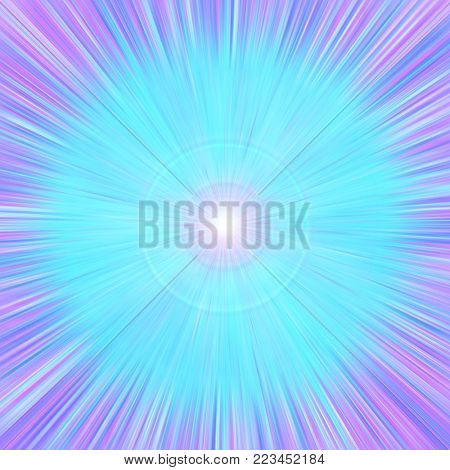 bright blue glow from the center of a square background