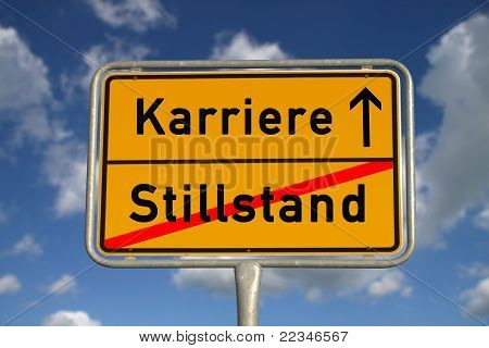 German Road Sign Stagnancy And Career