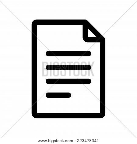File icon isolated on white background. File icon modern symbol for graphic and web design. File icon simple sign for logo, web, app, UI. File icon flat vector illustration, EPS10.