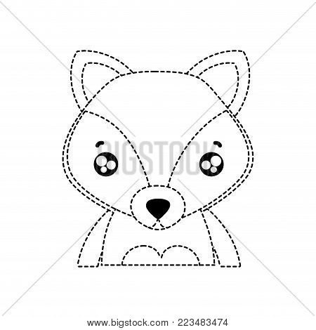 dotted shape tender fox adorable wild animal vector illustration