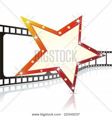 Stars and cinema tape