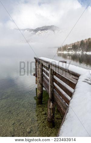 Winter In The Lake Bohinj, Julian Alps