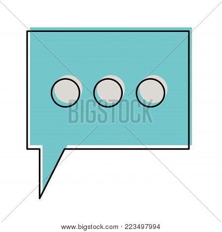 dialogue box with tail and three suspension points in watercolor silhouette vector illustration