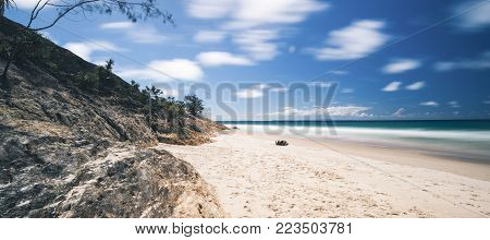 Adder Rock Beach On Stradbroke Island, Queensland