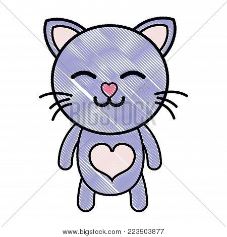 grated sleeping cat cute feline animal vector illustration