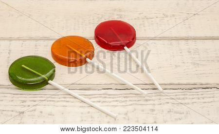 lollipops, red, green blue Lolly candy sweety
