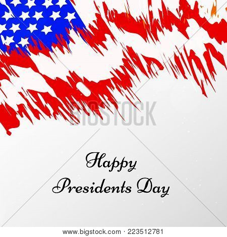 illustration of USA flag background with Happy Presidents Day text on the occasion of Presidents Day