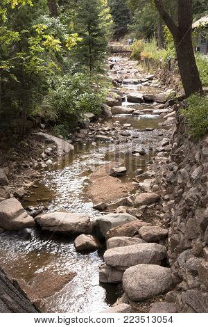 A view from the middle of South Cheyenne Creek in the Summertime