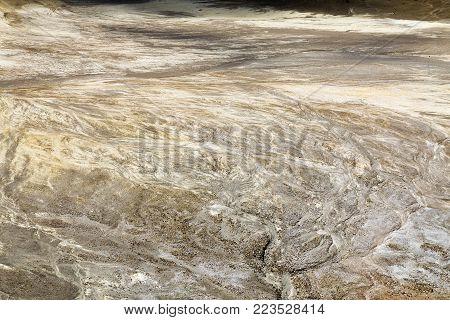 Rain water Erosion inside the crater of Mount Egon in East Nusa Tenggara, Indonesia.