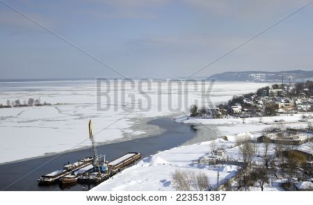 City at the north Pole, quite harbour