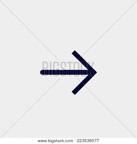 arrow icon, Vector illustration. right arrow icon