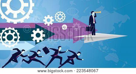 Businessman Future Vision Concept
