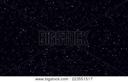 Night starry sky with stars and planets, isolated on transparent background - Vector