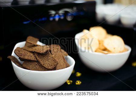 Coffee Break Prepare For Serve Guests Attending Seminar During Break Time In Meeting Room