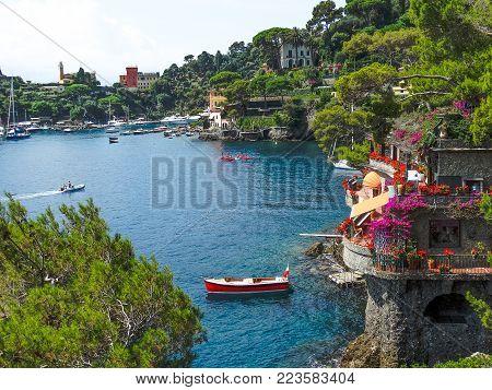 Paraggi-Portofino (Italy) wonderful view of the inlet