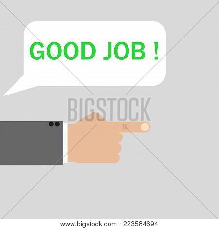 good boss praising the worker vector icon illustration flat design