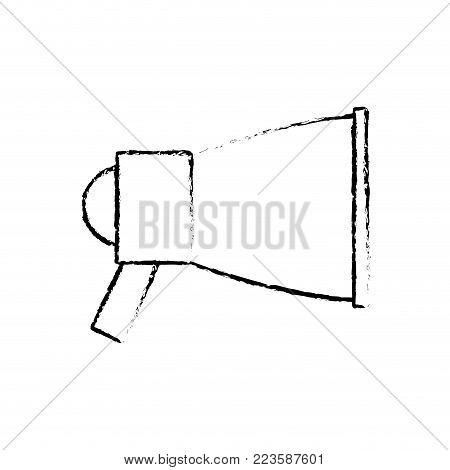 Megaphone of amplifer speaker bullhorn and announce theme Isolated design Vector illustration