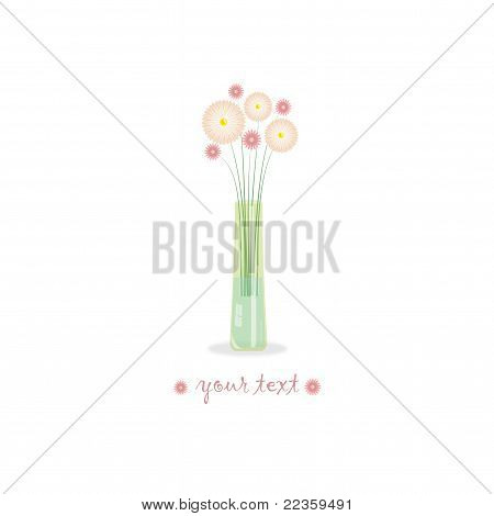 Flowers in the vase, vector illustration
