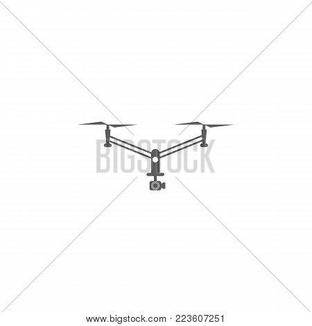 drone with camera icon. Elements of a controlled aircraft icon. Premium quality graphic design. Signs, outline symbols collection icon for websites, web design, mobile app on white background
