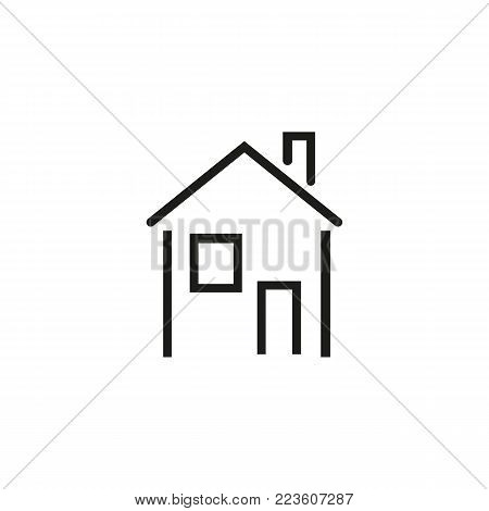 Icon of house. Apartment, building, home. Housing concept. Can be used for topics like real estate, mortgage, housing.
