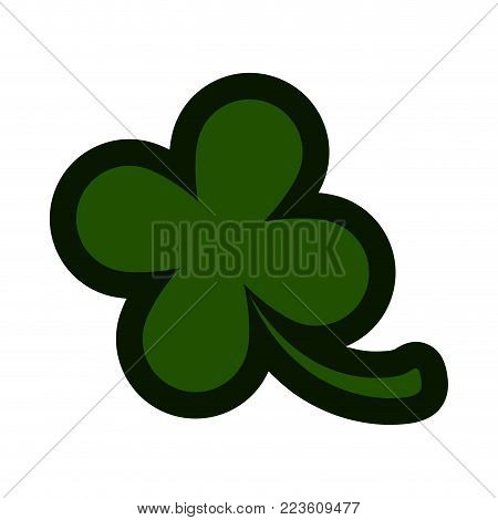 Four leaf clover icon. Patrick day. Vector illustration design