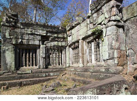 Koh Ker temple complex ruin, Cambodia in sunny day