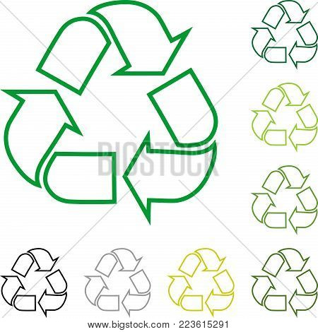 Recycle arrows, recycle signs, recycle logo collection