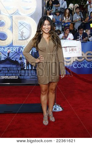 LOS ANGELES - AUG 6: Jenna Ushkowitz at the premiere of Twentieth Century Fox's 'Glee The 3D Concert Movie' held at the Regency Village Theater on August 6, 2011 in Los Angeles, California