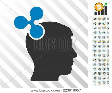 Ripple Imagination pictograph with 700 bonus bitcoin mining and blockchain pictograms. Vector illustration style is flat iconic symbols designed for bitcoin software.