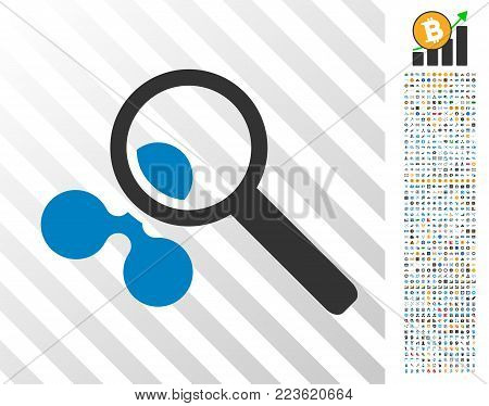 Search Ripple pictograph with 7 hundred bonus bitcoin mining and blockchain pictures. Vector illustration style is flat iconic symbols designed for blockchain software.