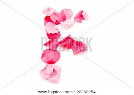 Pink Petal Letter - Capital F