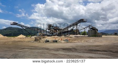 Sand Mining  in a quarry  in Cairns Australia