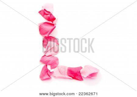 Pink Petal Letter - Capital L