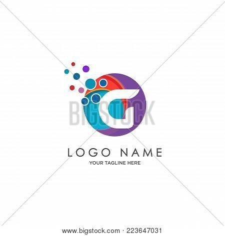 sophisticated luxury logos,  initials G icon design,  abstract logo, initials symbol design