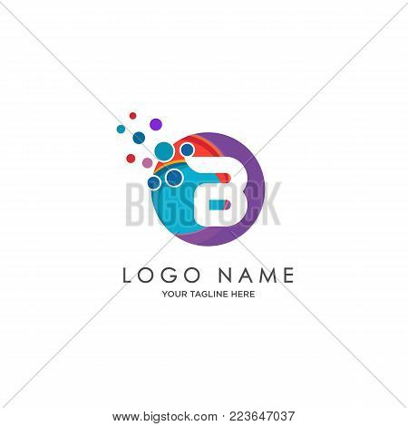 sophisticated luxury logos,  initials B icon design,  abstract logo, initials symbol design