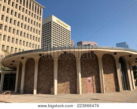PHOENIX, AZ, USA - DECEMBER 14, 2017: City of Phoenix Council Chamber at West Jefferson Street in Phoenix downtown, Arizona
