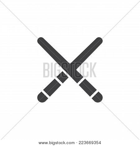 Pool cue icon vector, filled flat sign, solid pictogram isolated on white. Billiard cue symbol, logo illustration.