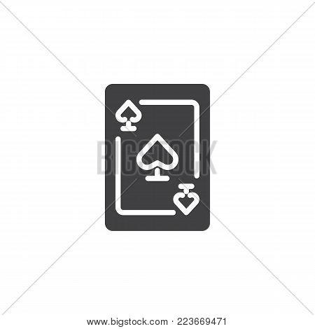 Ace Spades Icon Vector Photo Free Trial Bigstock