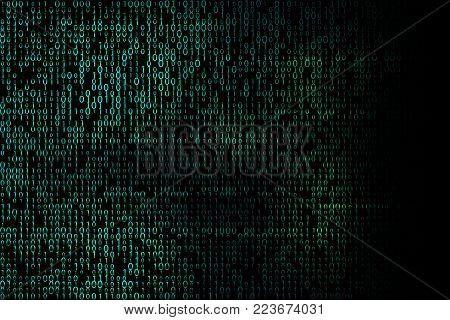 Hacker background. Digital binary code backdrop illustration