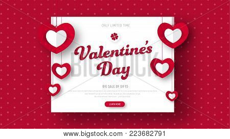 Design Red Header For Sale On Valentine's Day