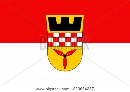 Flag of Wetter is a town in the federal state of North Rhine-Westphalia, Germany. Vector illustration