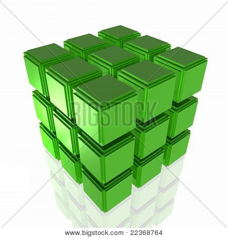Green cube structure