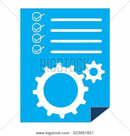 project management sign. project management icon on white background. project management symbol. flat style.