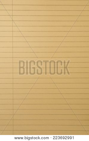 Yellow legal pad page for background or banner