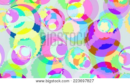 abstract background of colored circles funny