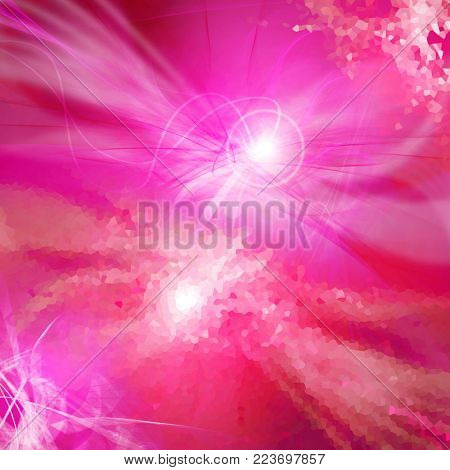 abstract red-violet bombing, use of a background