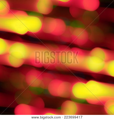 blurred lights of the effect of traffic on the black