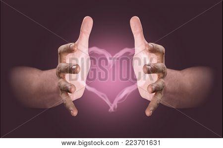 Hands Conjuring Heart Vapor